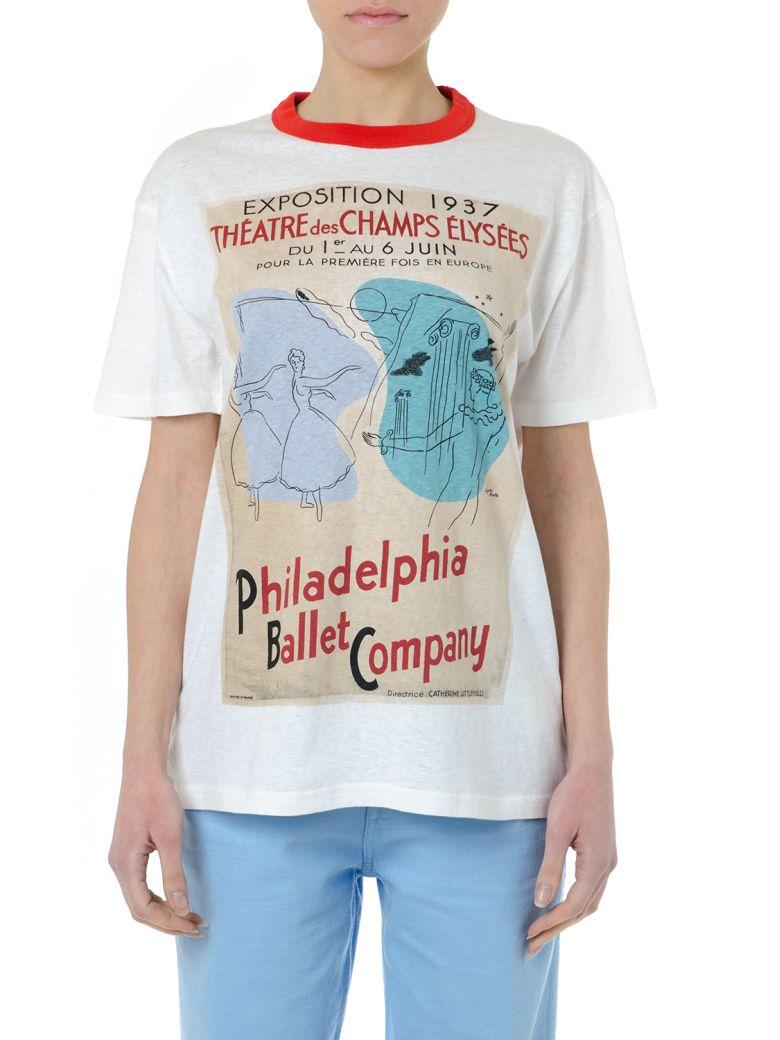 Acne Studios White Cotton T Shirt With Graphic Print - White/multicolor
