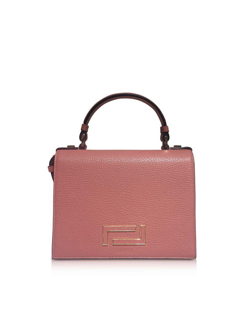 Lancel Pia Grained Leather Flap Satchel Bag - Blush