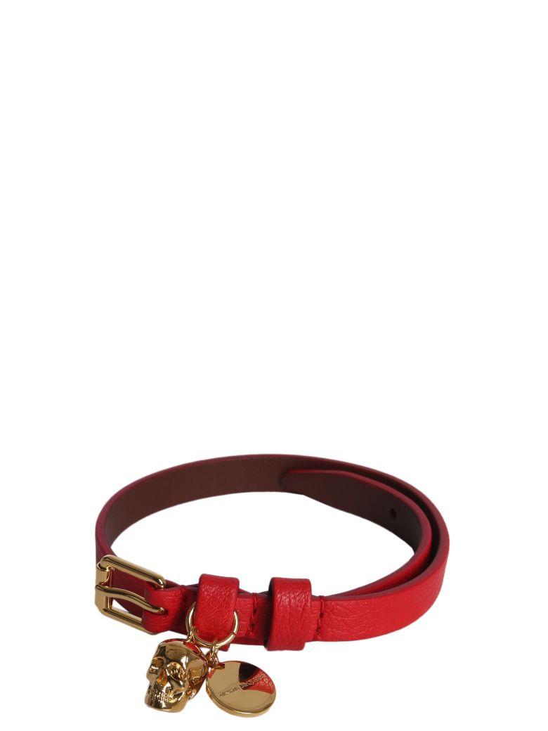 Alexander McQueen Skull Bracelet - ROSSO