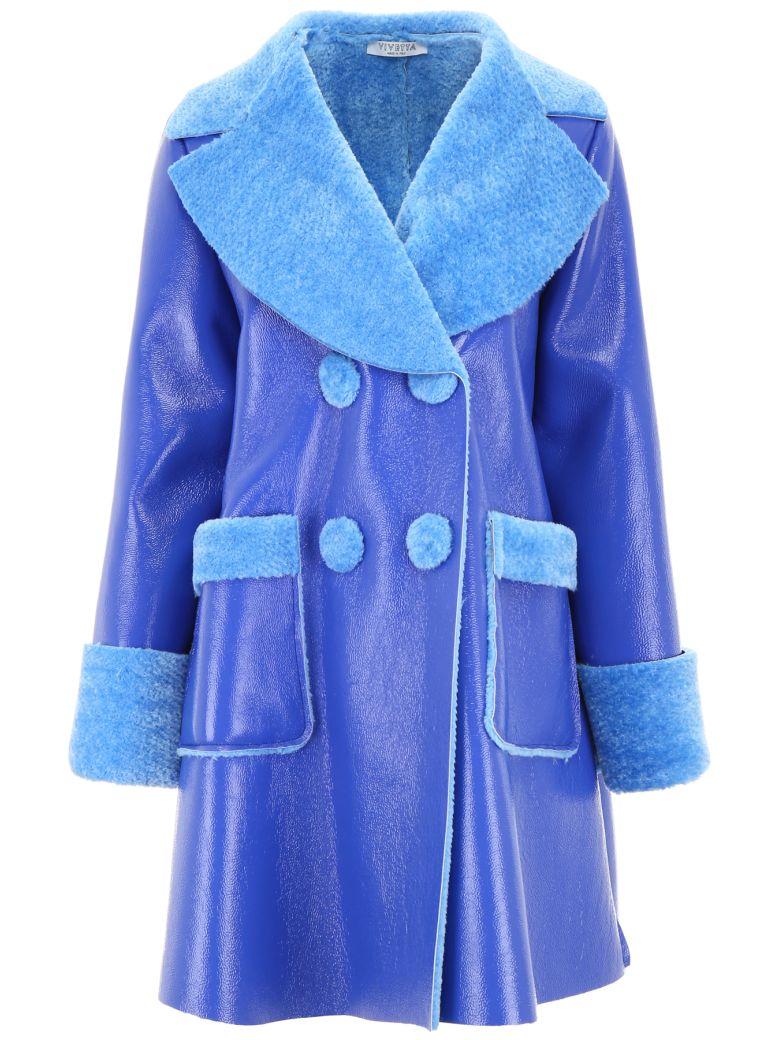Vivetta Faux Shearling Coat - BLUE LIGHT BLUE Blu