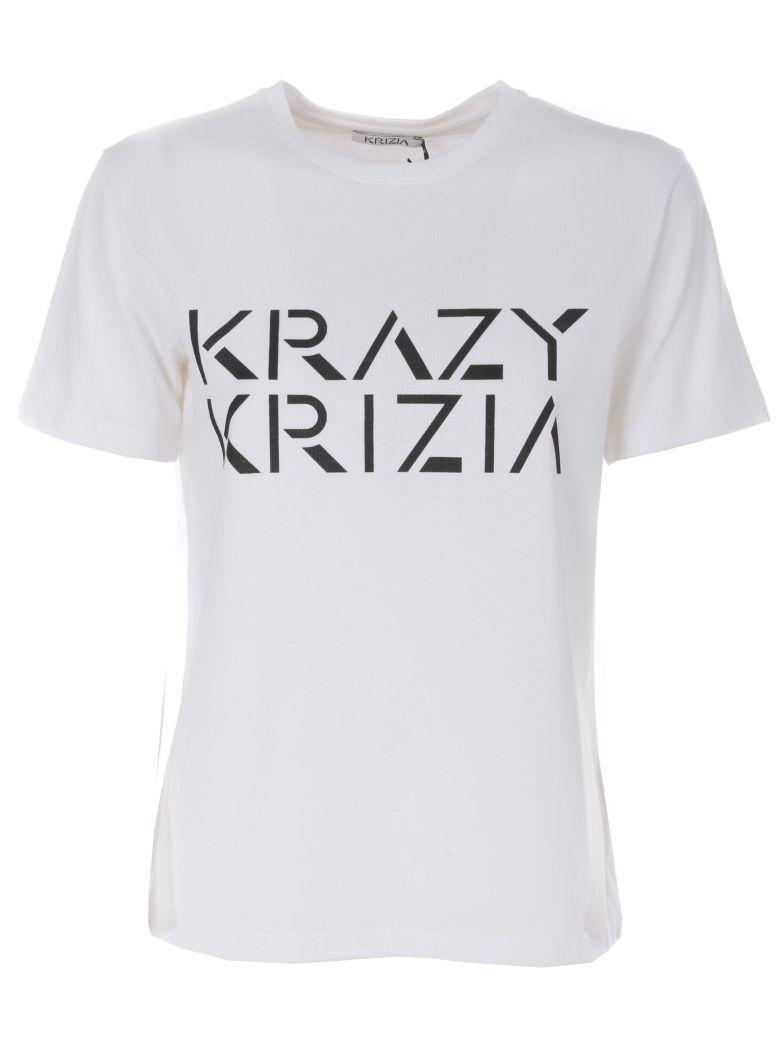 Krizia Logo Print T-shirt - Bianco