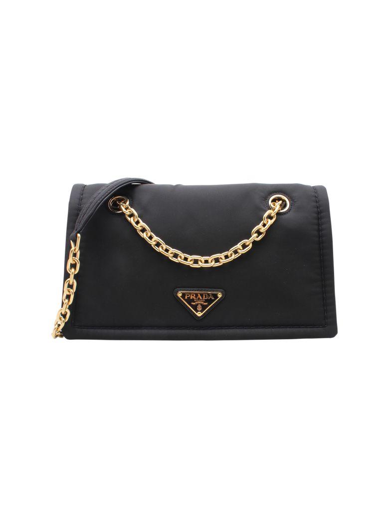 Prada Nylon Shoulder Bag - Black