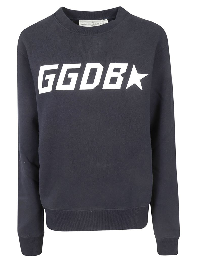 Golden Goose Logo Print Sweatshirt - DARK NAVY