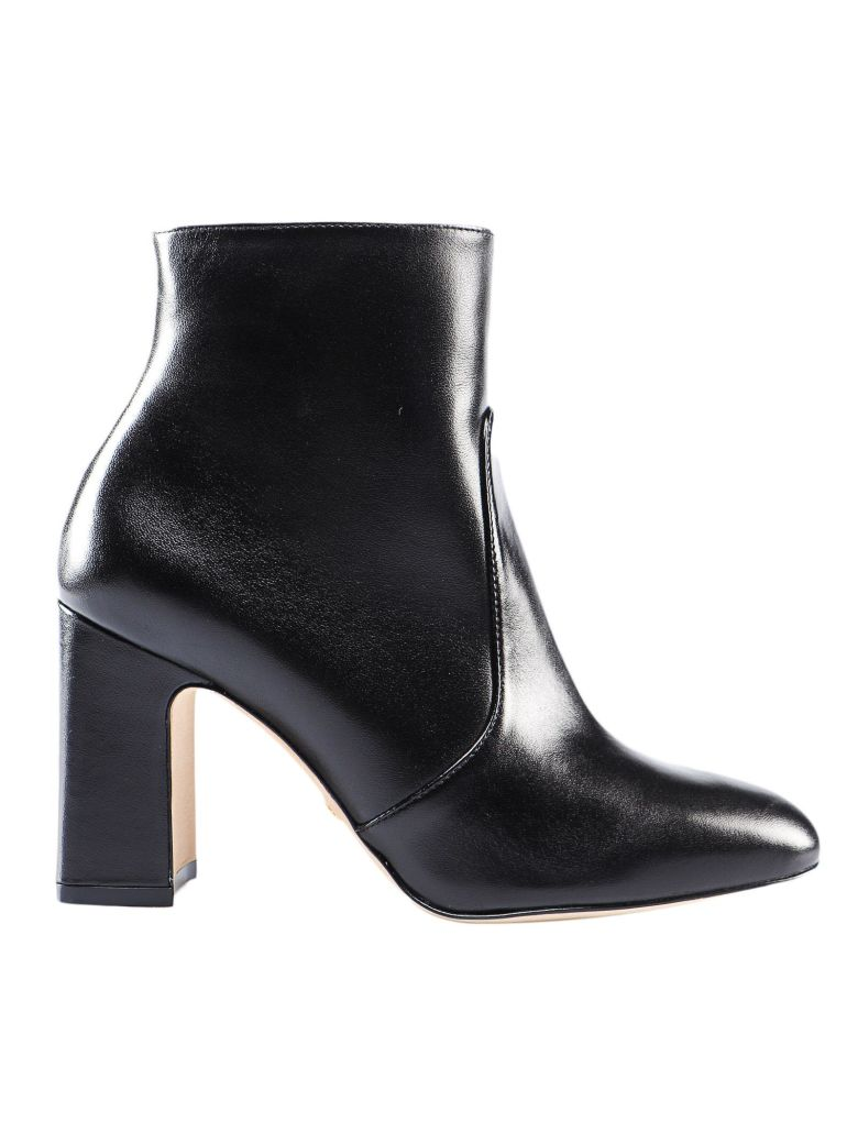 Stuart Weitzman Dress Lambskin Bootie - Black