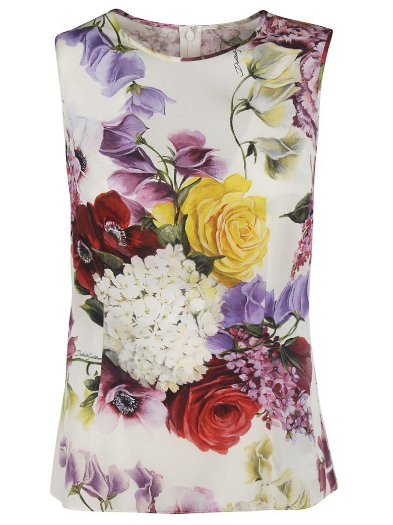 Dolce & Gabbana Floral Print Top - pink