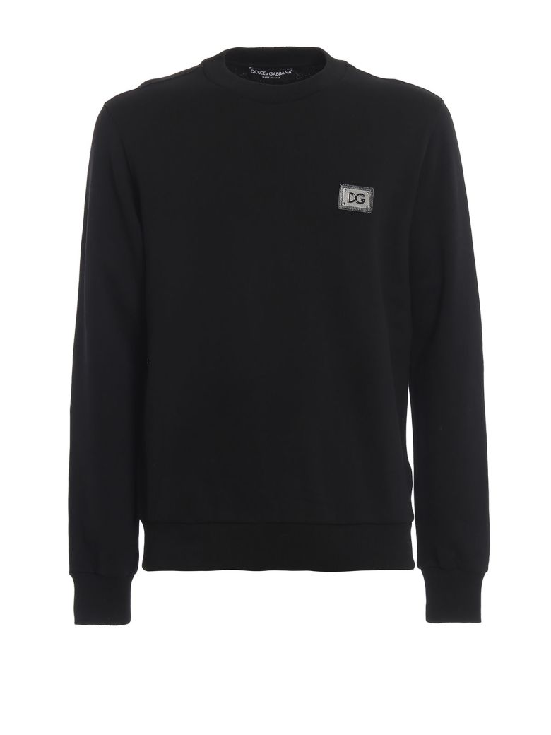 Dolce & Gabbana Logo Patched Sweatshirt - Black