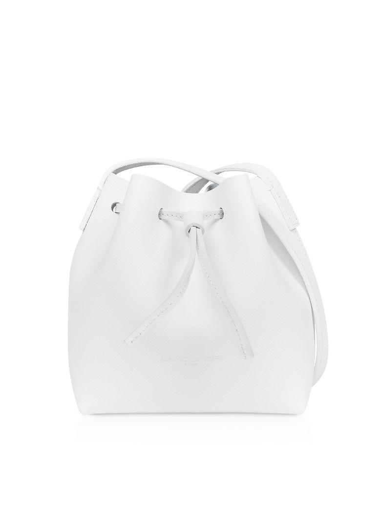 Lancaster Paris Pur & Element Saffiano Mini Bucket Bag - White