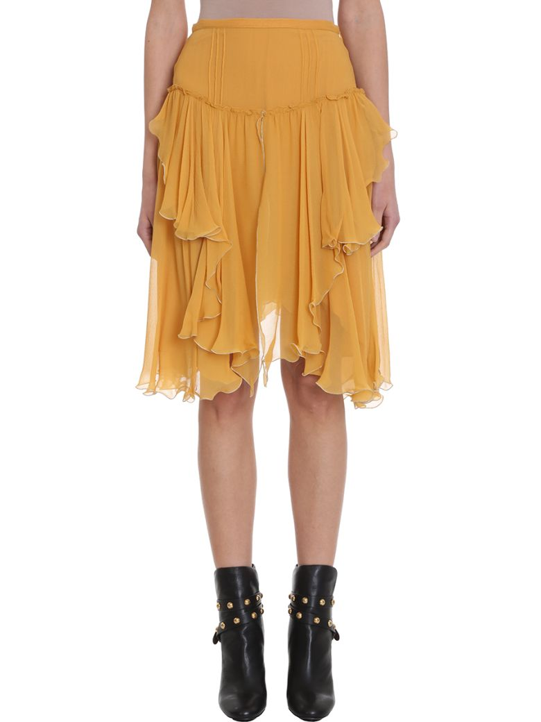 See by Chloé Yellow Georgette Skirt - yellow