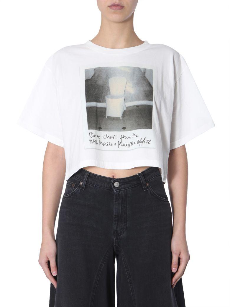 MM6 Maison Margiela Crop T-shirt - BIANCO