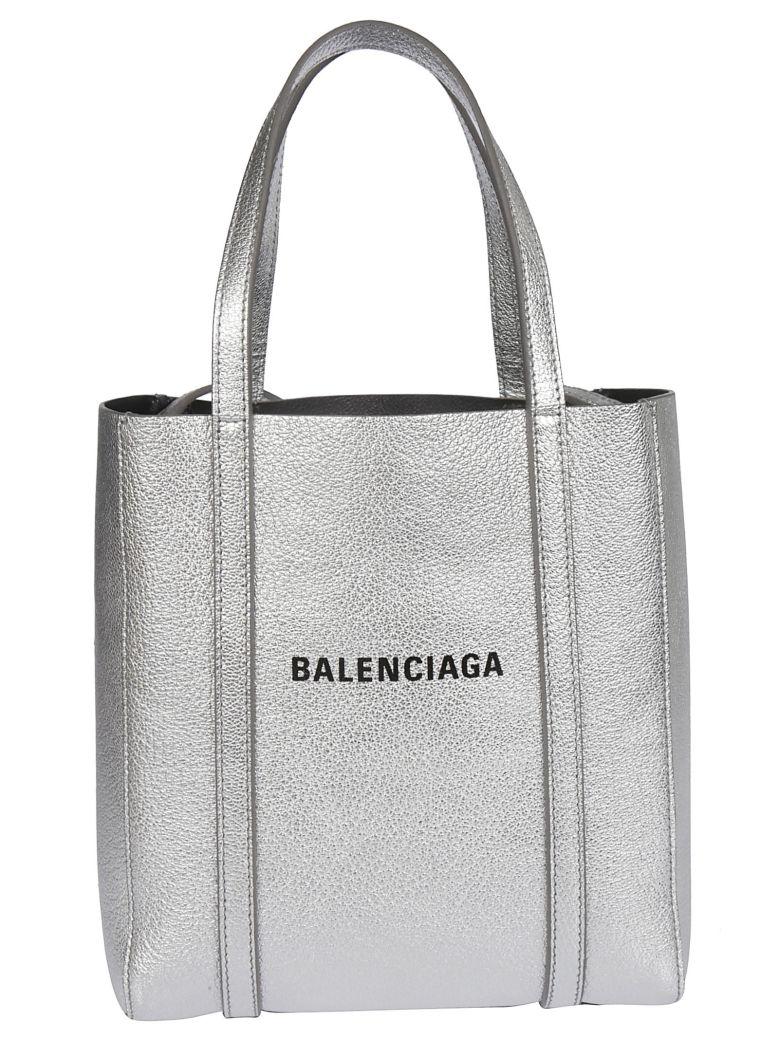 Balenciaga Extra Small Logo Tote - Argent Noir