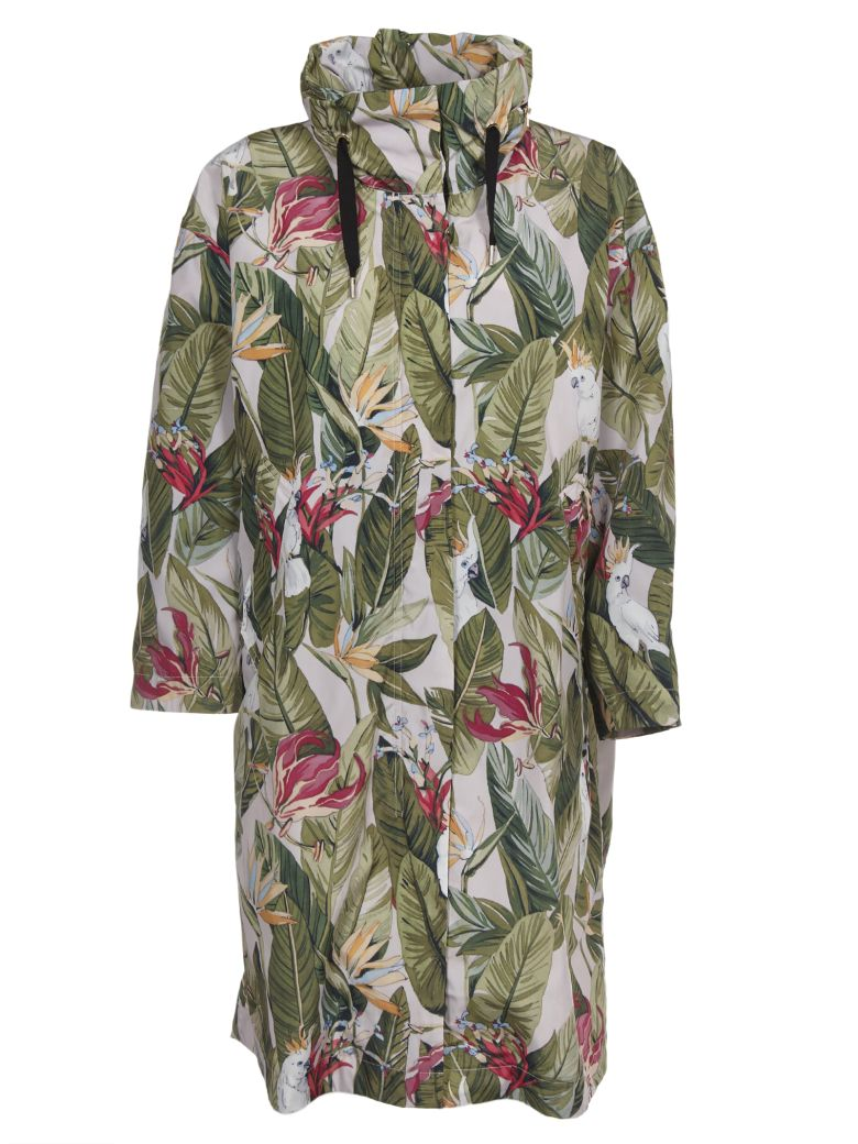 Woolrich Leaf Print Coat - Multicolor