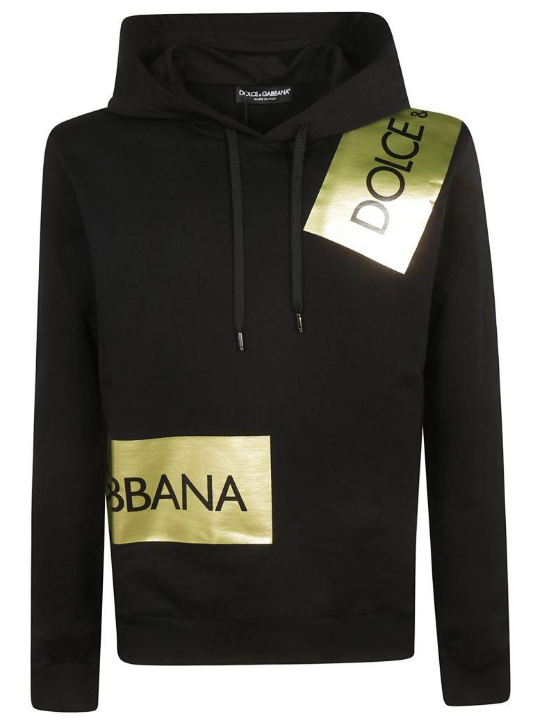 Dolce & Gabbana Logo Tape Hoodie - Black