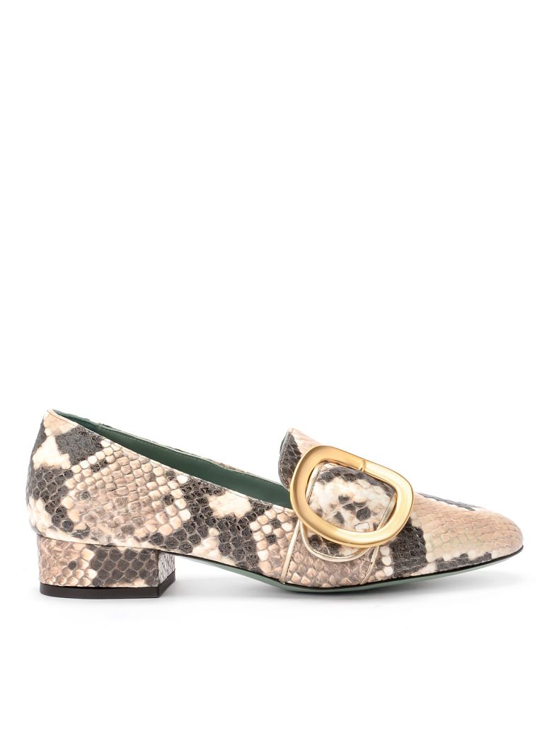Paola D'Arcano Dixi Python Printed Leather Loafer - Multicolor