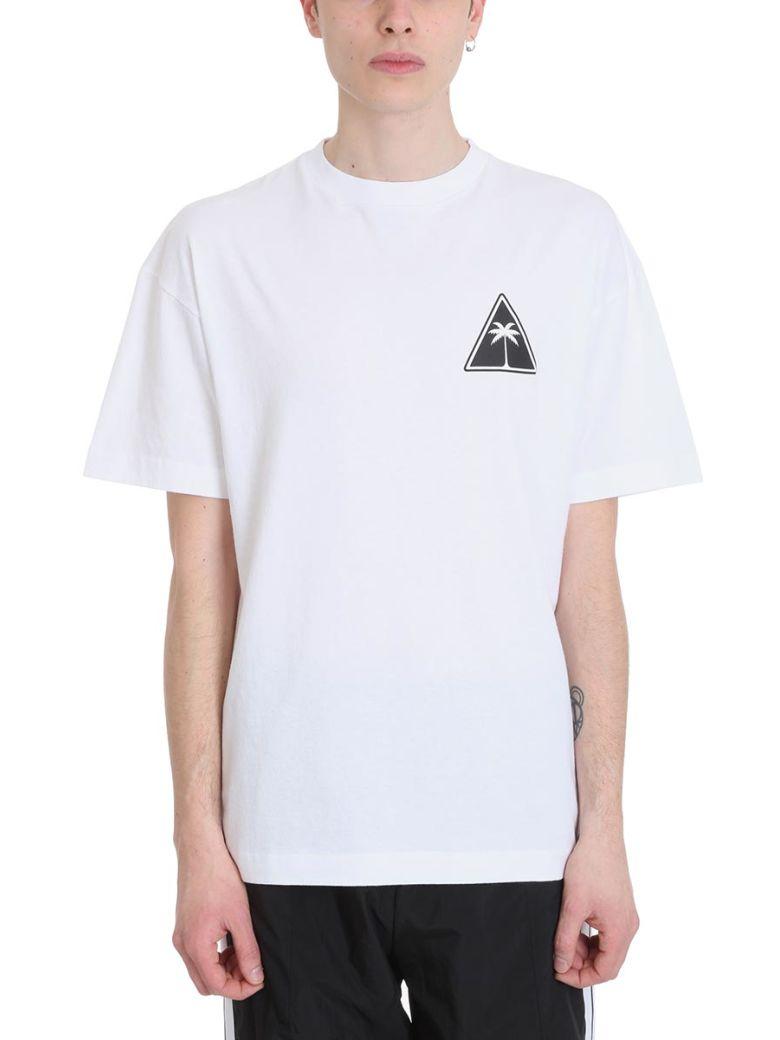 Palm Angels White Palm Icon Cotton T-shirt - White