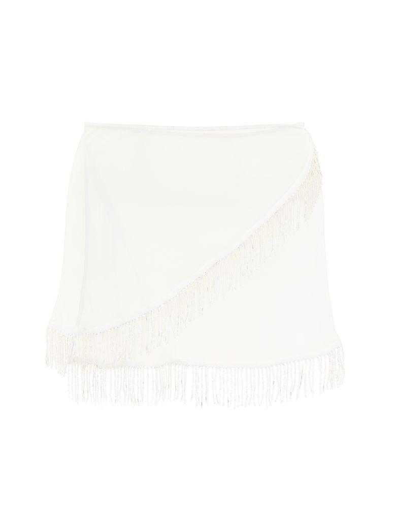 Oseree Pearls Collection Mini Skirt - AQUA (Green)