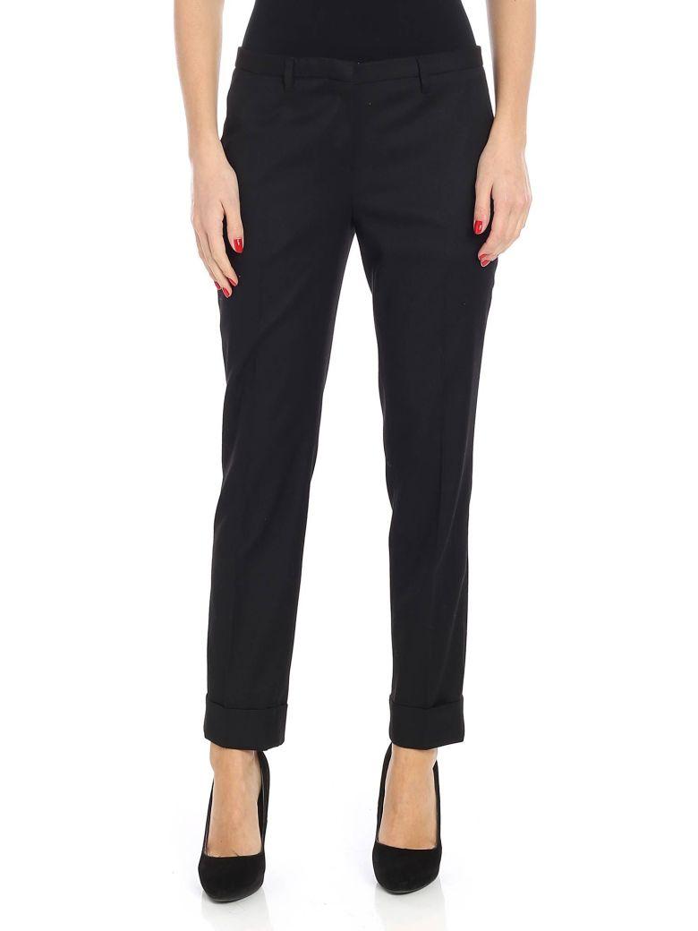 Lardini Cropped Trousers - Nero