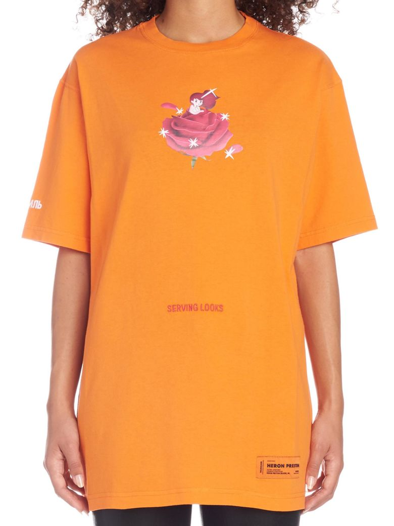 HERON PRESTON 'serving Looks' T-shirt - Orange