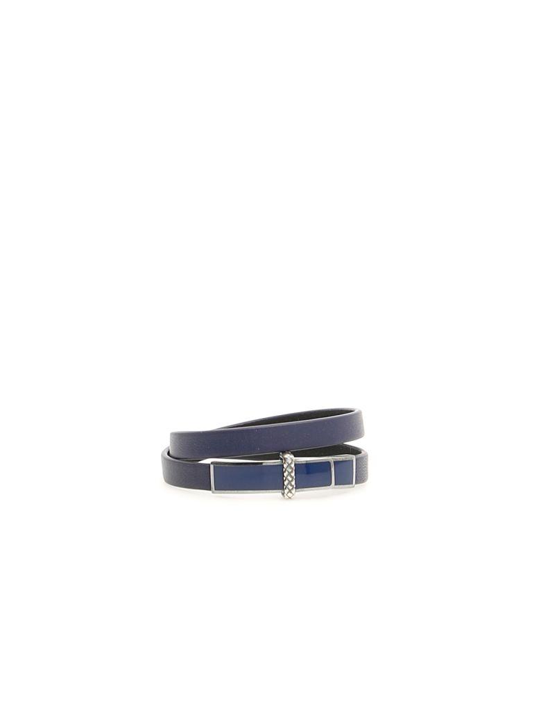 Bottega Veneta Leather Bracelet - ATLANTIC ATLANTIC NERO (Blue)
