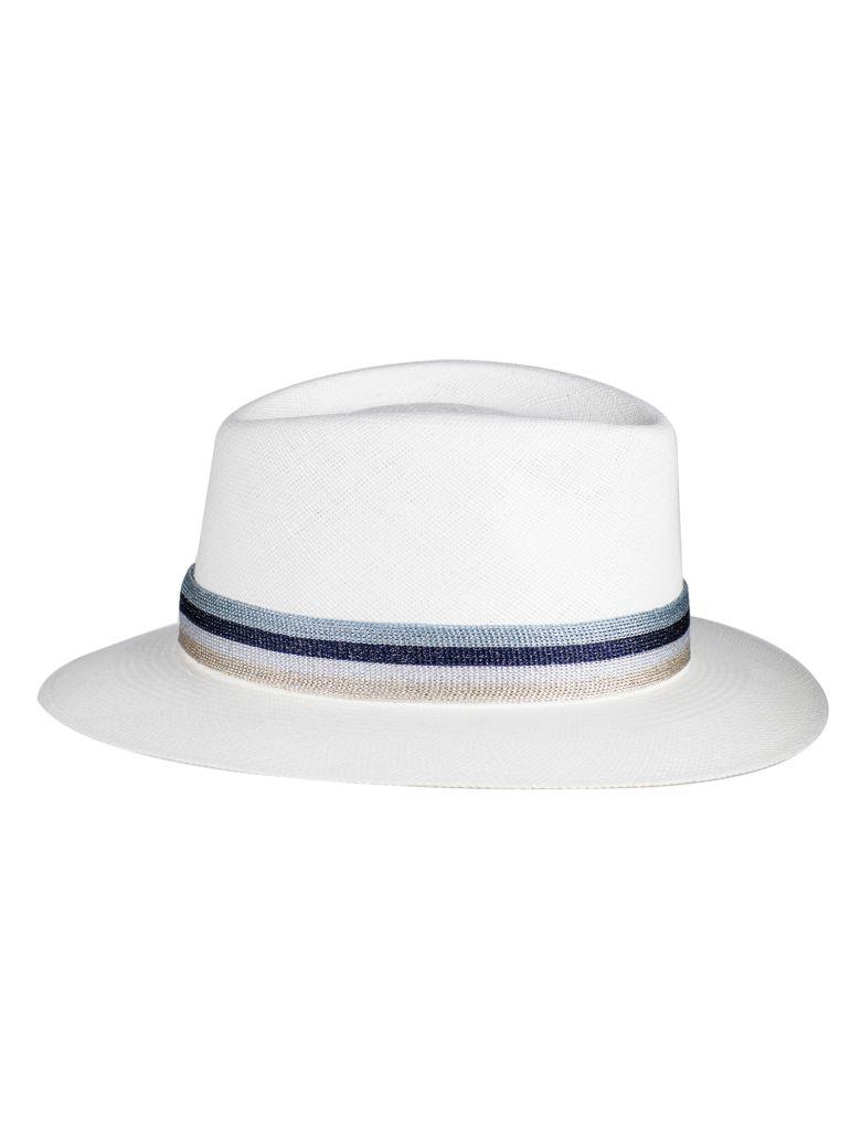 Maison Michel Maison Michel Andre Fedora Hat - White