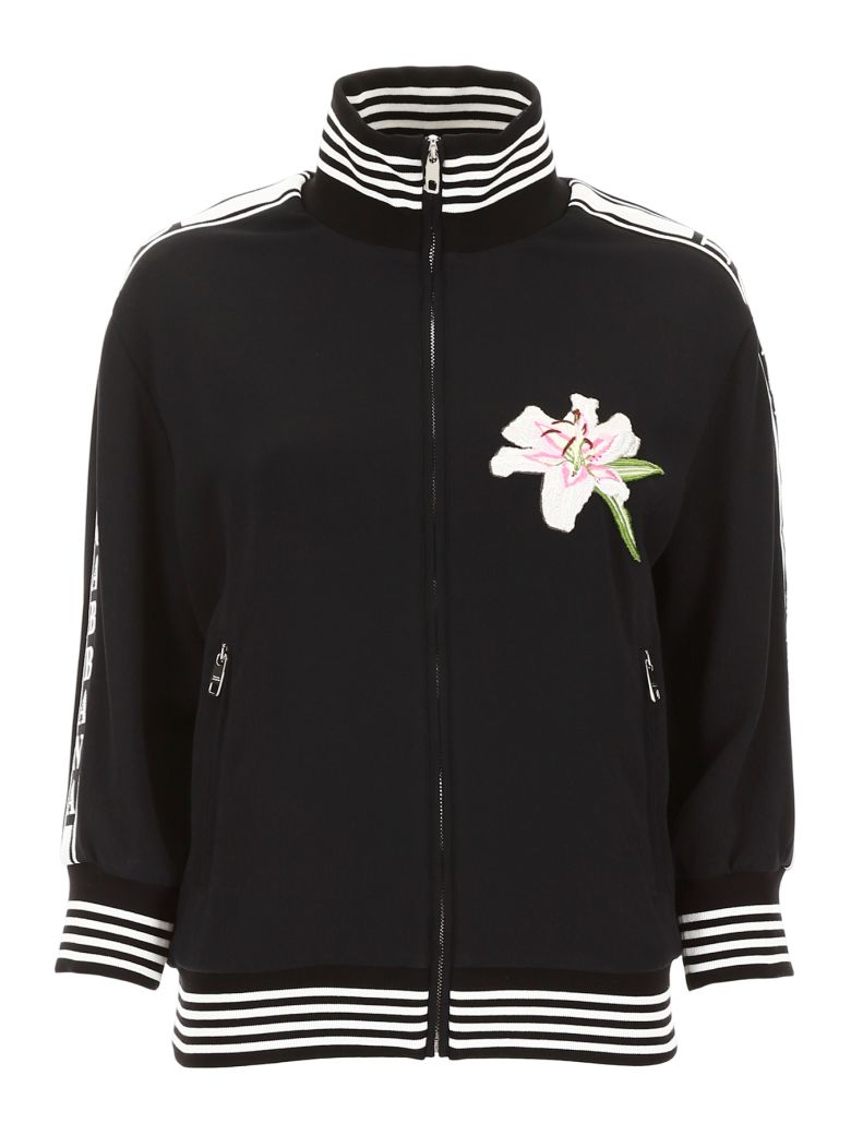 Dolce & Gabbana Lily Patch Sweatshirt - NERO (Black)