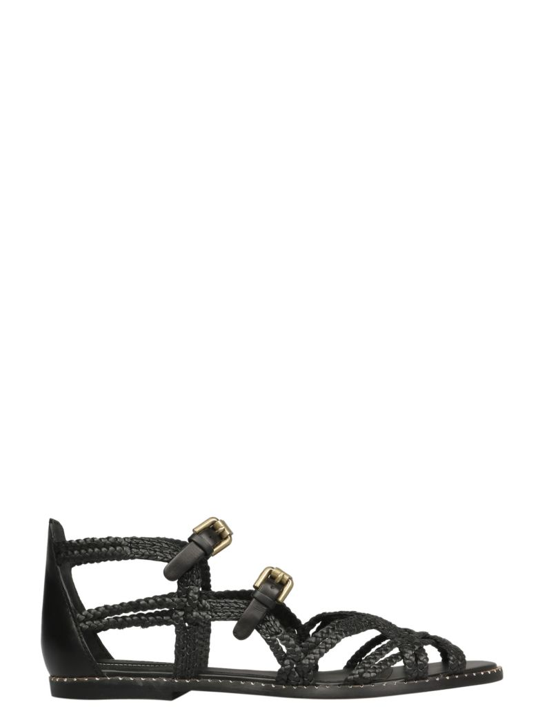 See by Chloé Woven Strappy Sandals - Nero