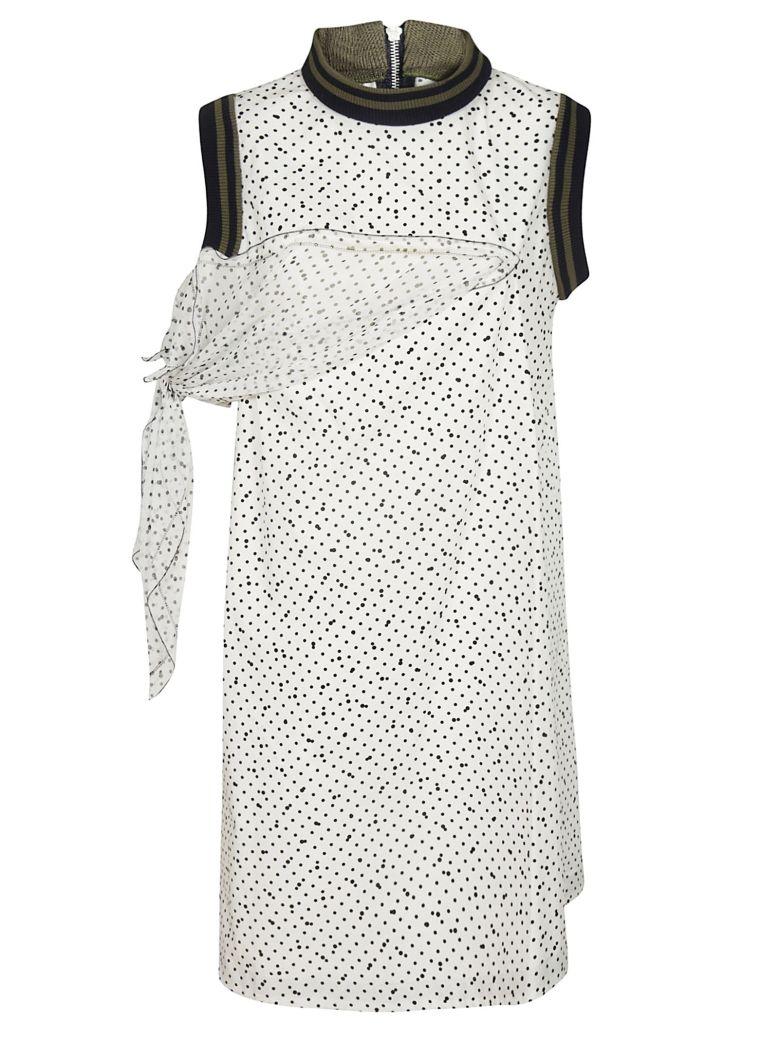 Sacai Side Panel Shift Dress - White