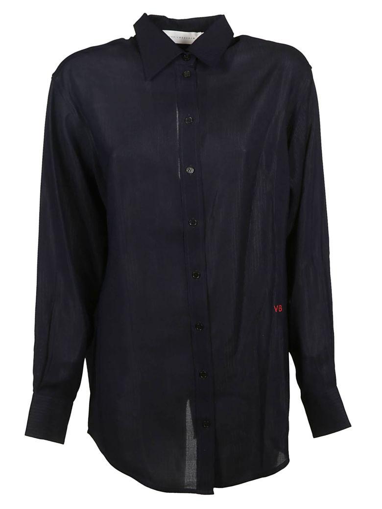 Victoria Beckham Logo Embroidered Shirt - Dark Navy