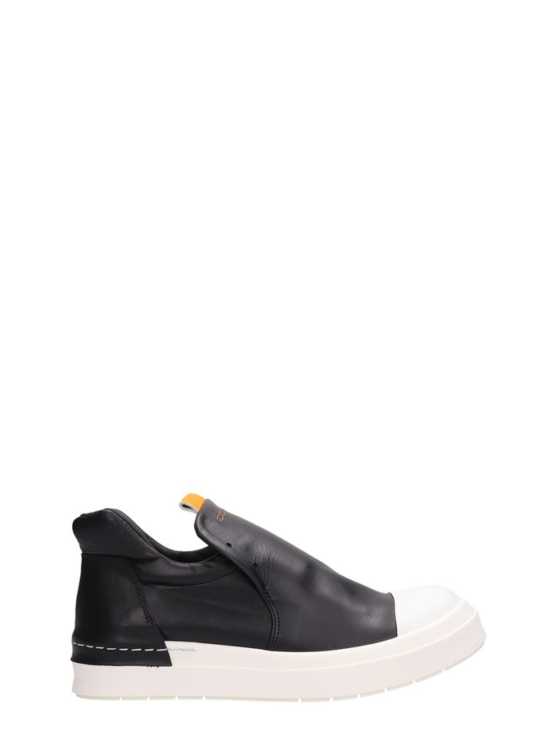 Cinzia Araia Black Leather Sneakers - black