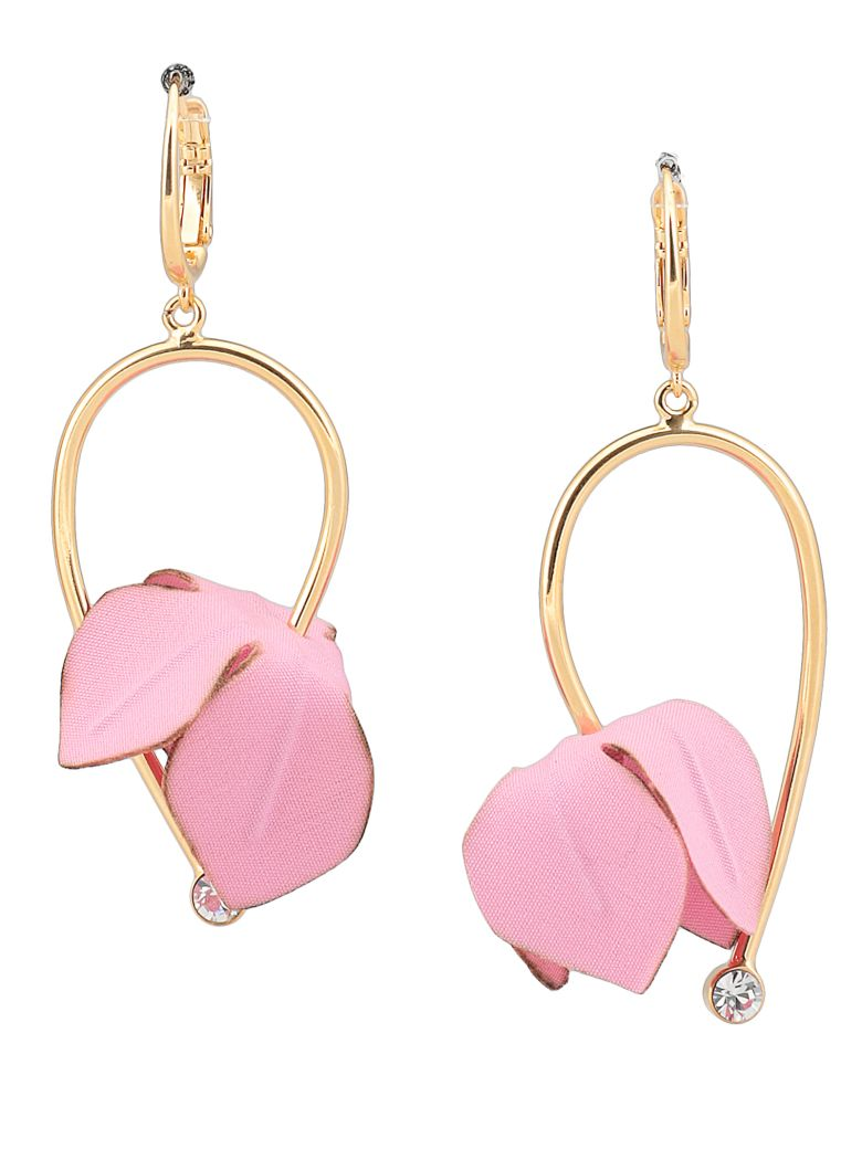 Marni Earrings With Flowers - PINK