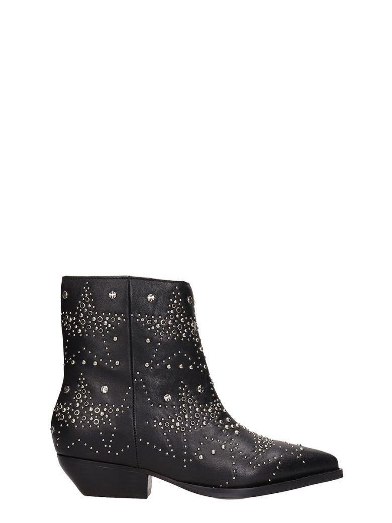 Lola Cruz Black Leather Ankle Boot - black