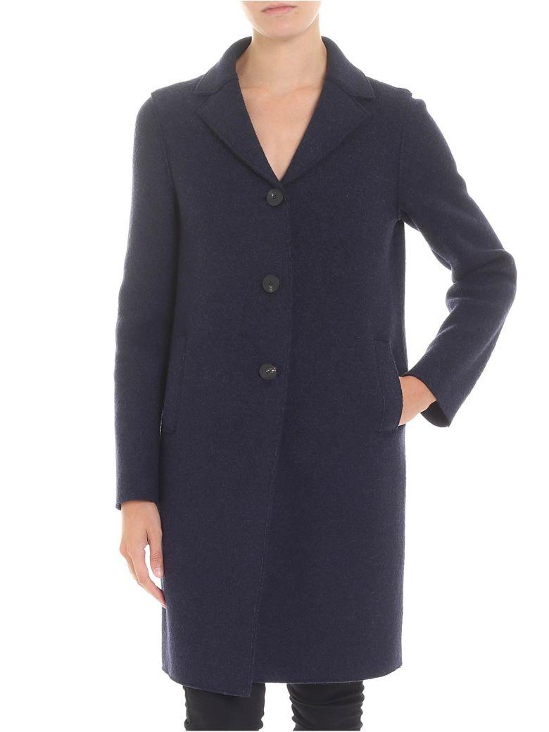 Harris Wharf London Blue Virgin Wool Coat - Blue