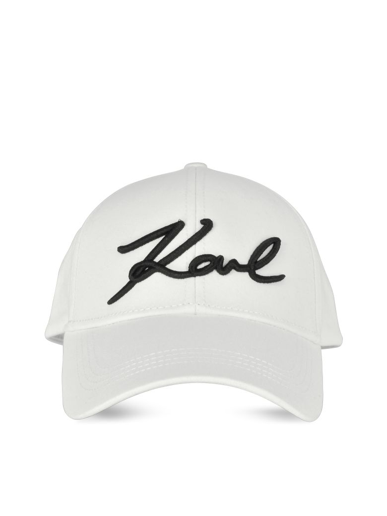 Karl Lagerfeld K/signature Cap - White