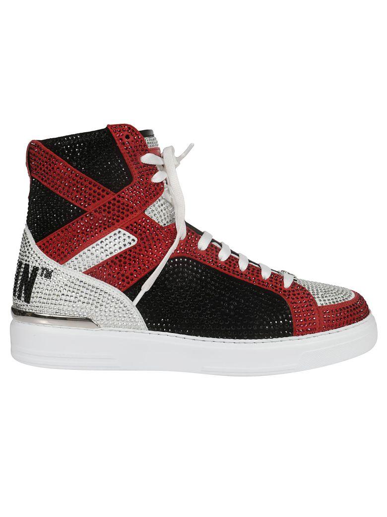 Philipp Plein Embellished Hi-top Sneakers - Multicolor