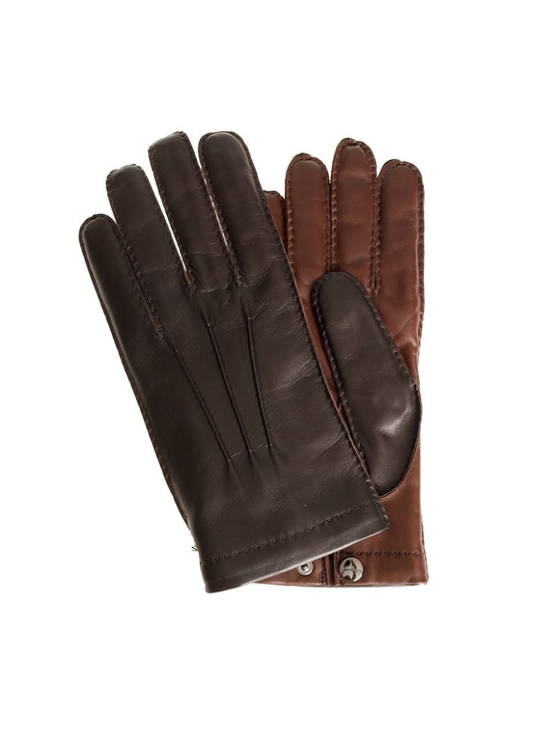 Salvatore Ferragamo Leather Gloves - Brown