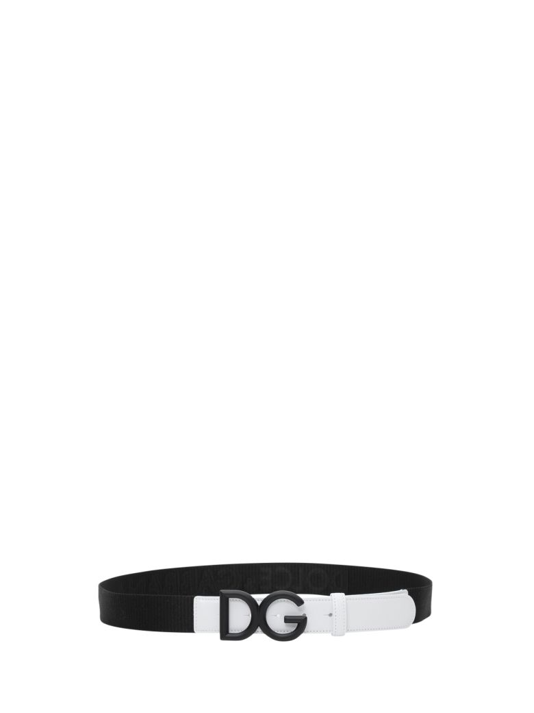 Dolce & Gabbana Logo Belt - Black