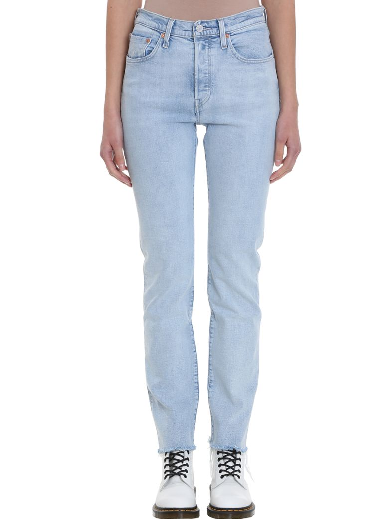 Levi's 501 Light Blue Jeans - cyan