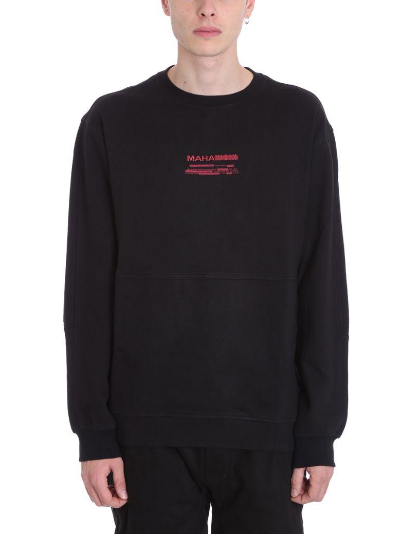 Maharishi Miltype Black Cotton Sweatshirt - black