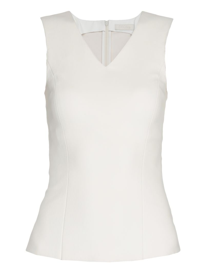 DROMe Leather Top - WHITE
