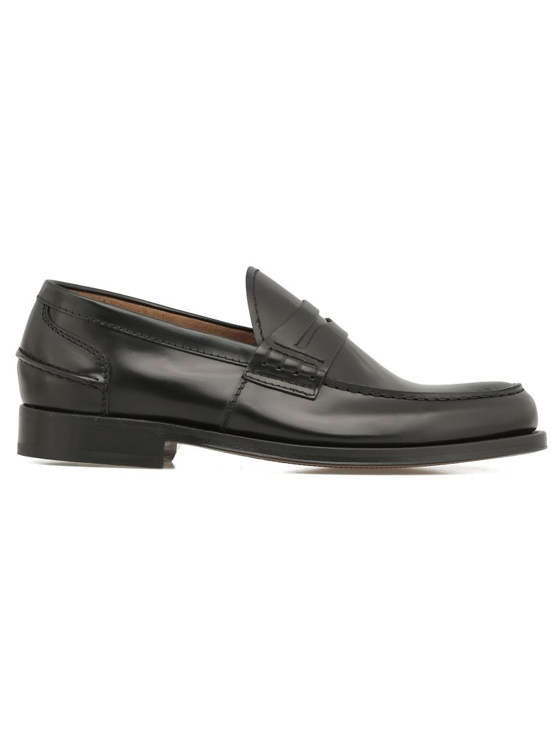 Green George Leather Loafer - BLACK