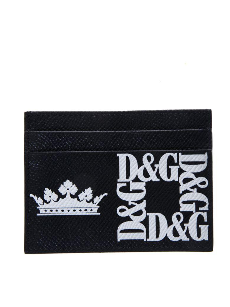 Dolce & Gabbana Black Credit Card Holder In Leather - Black