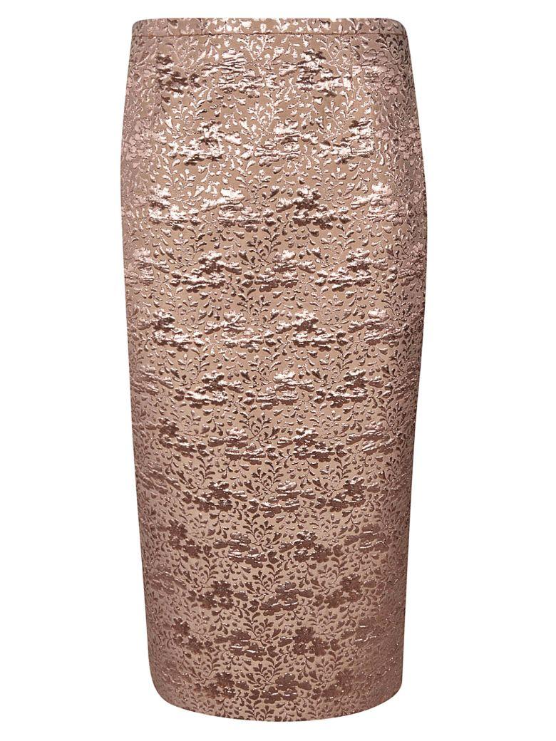 Rochas Floral Skirt - Medium Beige