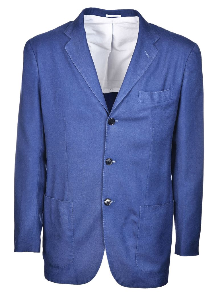 Kiton Single Breasted Jacket - Blue