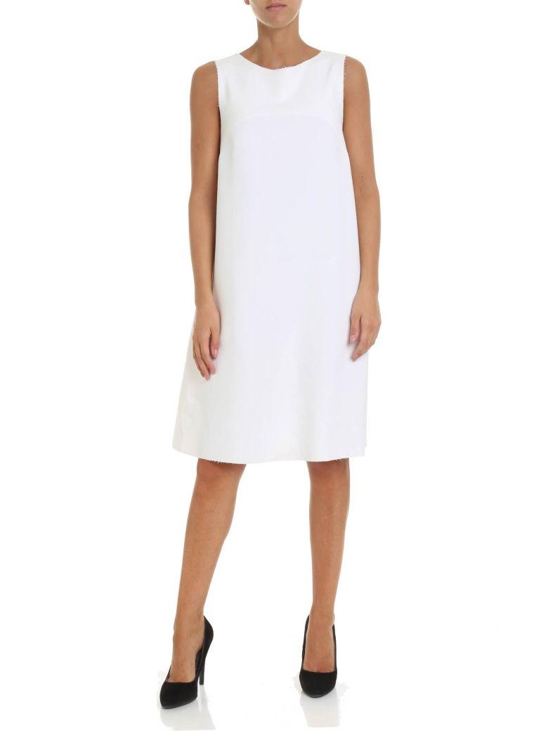 Altea Fur Side Panel Dress - White