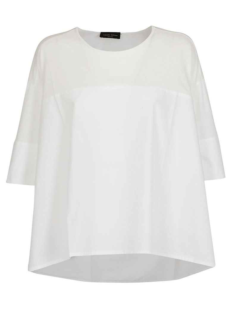 Roberto Collina Oversized Fit Top - White