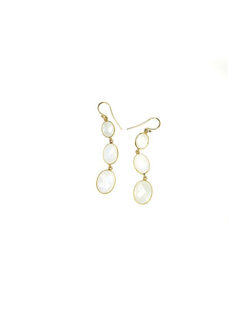 Bianca Baykam Crystal Detail Earrings - White