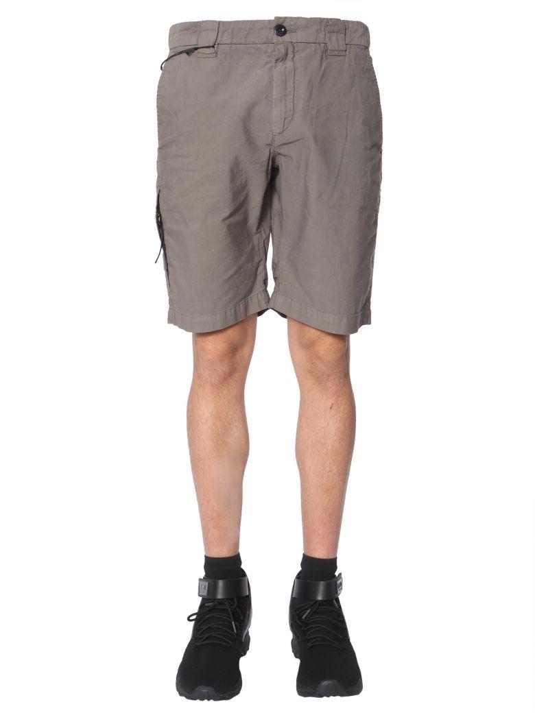 C.P. Company Ottoman Linen Shorts - GRIGIO