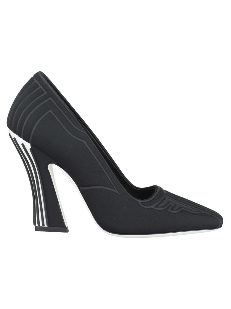 Fendi Fendi Ffreedom Square Toe Pumps - BLACK