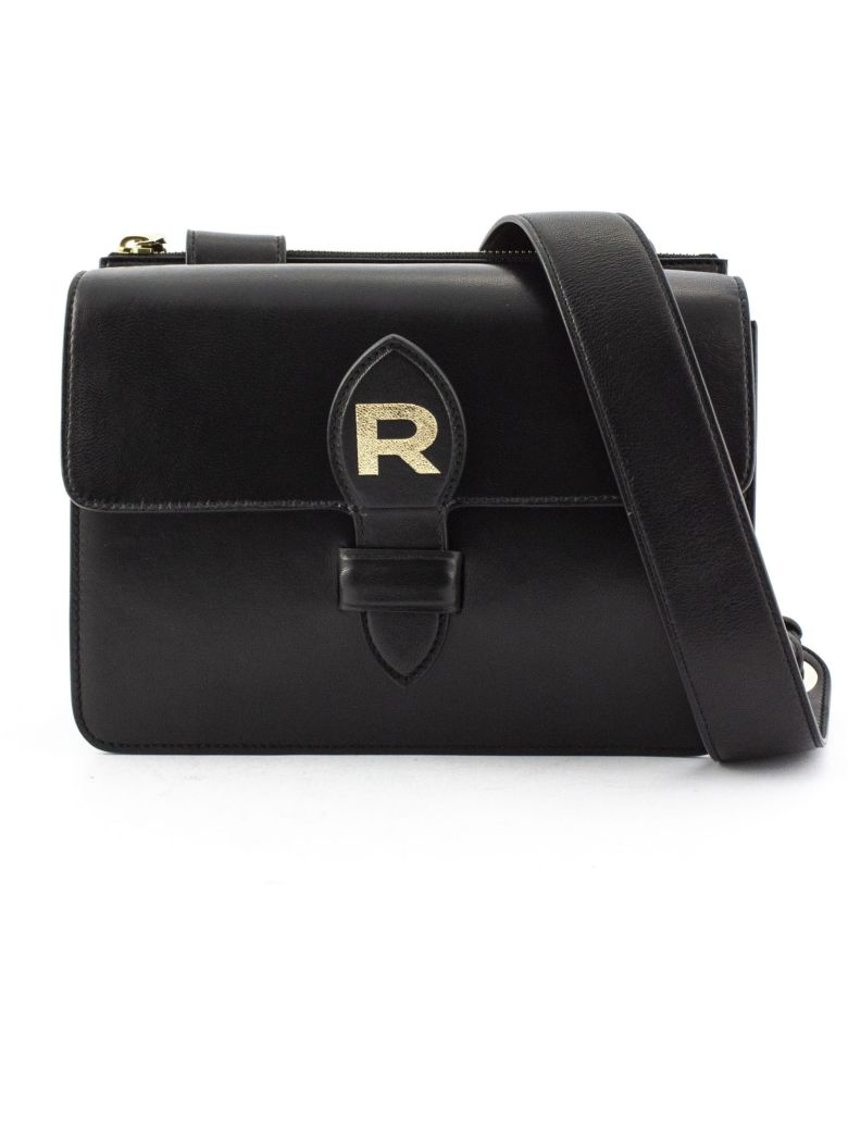 Rochas Black Leather Bag - Nero