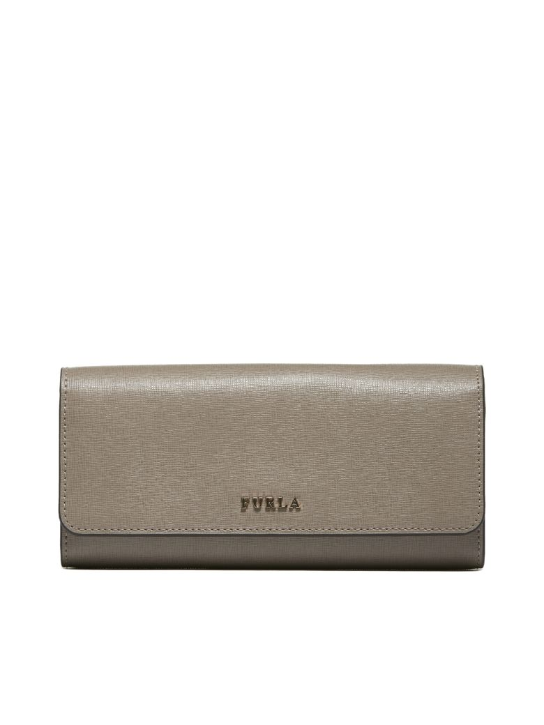 Furla Logo Plaque Continental Wallet - Tortora