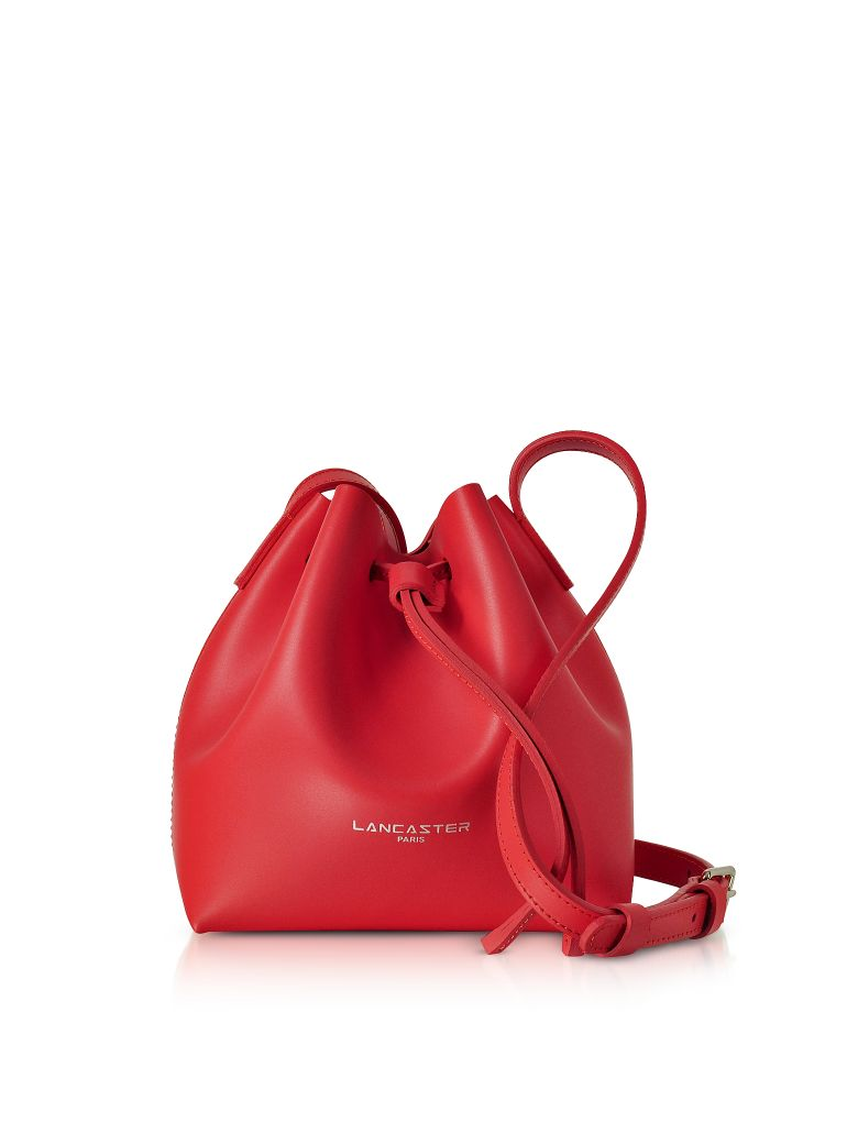 Lancaster Paris Pur & Element Smooth Leather Mini Bucket Bag - Red